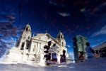 Church Kyapo reflected in the water in Manila, Philippines, January 5, 2012. (Brent Lewin  Bloomberg)