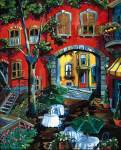 Josee Miller (Quebec). Another bright courtyard in the treasury of the Canadian
