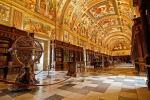 Library in the monastery of El Real, El Escorial, Madrid, Spain. (Jose Maria Cuellar)