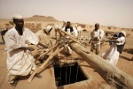Sudanese take out water from the well in the Shandy, Sudan. Lack of drinking water remains a serious problem for most families in the Shandy. (Abd Raouf Associated Press)