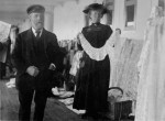 A woman selling Irish lace on board the Titanic, April 11, 1912. (Fr Browne SJ Collection-UIGThe Bridgeman Art Library)