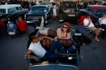 Courtney Price and Steve Tsang rest in his car during the event «Viva Las Vegas Rockabilly Weekend» in Las Vegas, April 7, 2012. The event was attended by thousands of people. (John Locher Las Vegas Review-Journal)