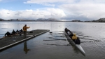 Eric Jensen teaches students rowing on the lake in Evauna Klamant Falls, Oregon. (Andrew Mariman  The Herald and News)