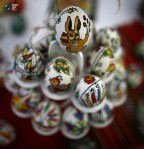 Hand-painted Easter eggs are sold at the fair on Palm Sunday in Bucharest, Romania. (© Bogdan Cristel Reuters)