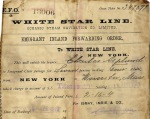 In the photo, released by the auction house «Henry Aldridge & Son Ho» in Wiltshire, UK, April 18, 2008, captured a very rare artifact - a passenger ticket for the Titanic.