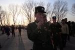 North Korean soldiers eating ice cream at the festival of colors in Pyongyang, North Korea, April 17, 2012. (Ng Han Guan Associated Press)