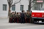 North Korean students sit in a bus in Pyongyang, North Korea, April 10, 2012. (Ng Han Guan Associated Press)