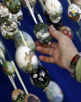Painted Easter eggs are sold at the local Easter market in Bad Mehlis, Germany. (© Michael Dalder  Reuters)