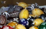 Painted Easter eggs are sold at the local Easter market in Bad Mehlis, Germany. (© Michael Dalder  Reuters)2