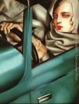Self-Portrait-in-the-Green-Bugatti