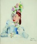 Tamara de Lempicka Madam elegant flowered hats - 1938-40 - Magda Baltoyanni © Tamara Art Collection Heritage NYC Museum Masters International