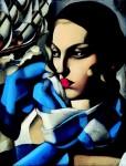 Tamara de Lempicka The blue scarf - 1930 - Private collection Art © Tamara Heritage NYC Museum Masters International
