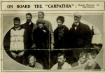 The surviving passengers of Titanic Frankatelli Laura and her employers Lady Lucy Duff-Gordon, Sir Cosmo Duff and Gordon are on-board the rescue ship Carpathia