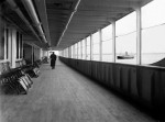 The upper deck of the Titanic photographed after leaving Southampton, 1912. (Fr Browne SJ Collection-UIGThe Bridgeman Art Library)