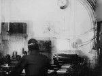 The wireless operator Harold Bride at work on board the Titanic in 1912. (Fr Browne SJ Collection-UIGThe Bridgeman Art Library)