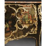 A gilt-bronze-mounted Chinese black lacquer commode stamped P. Roussel. Louis XV, circa 1745
