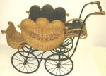 Antique Heywood Wakefield Wicker Baby Stroller