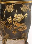 BLACK LACQUER CHINOISERIE PAINTED COMMODE CHEST1