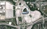 Stadium «Miller Park» in Milwaukee, Wisconsin. (© Google)