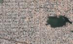 The area of N'Djamena, the capital of Chad. (© Google, GeoEye)