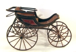 The pictures can be seen that the first carriage, by analogy with the wagons, drove behind