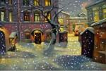 A.Schepalin. Evening snow