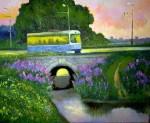 A.Schepalin. Tram on the bridge