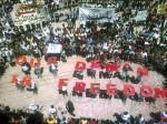 διαδηλωτές σε αντίθεση με πρόεδρο Μπασάρ αλ-Άσαντ, μετά την προσευχή της Παρασκευής στην πόλη Binsh, Συρία. (Reuters)