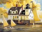 Charles Wysocki - Rockland Breakwater Light