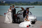 Chinese young couple posing for pictures after the wedding in Fussen. (MICHAEL DALDER REUTERS)