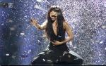 Swedish singer Lauryn sings Euphoria after winning the contest Eurovision in Baku. (DAVID MDZINARISHVILI  REUTERS)