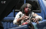 Woman injured in the explosion, sits in the back of a police pickup truck in Nairobi, the Kenyan capital. (STRINGER  REUTERS)