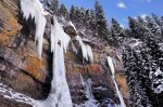 Frozen waterfall near Vail, Colorado, United States