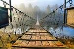 Suspension Bridge over the River Usva, Perm