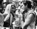 "Conversation Between Liz Taylor And Richard Burton On The Set Of ""Cleopatra"" 1963"