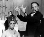 American film director Joseph L Mankiewicz with American actress Elizabeth Taylor on the set of his film