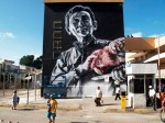 Artwork by El Mac -Painted with spraypaint & fatcaps for the Seres Queridos project. Campeche, México, 2010