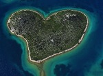 . Galešnjak Island in the Adriatic Sea off the coast of Croatia. Private property.