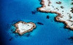 Reef in the shape of a heart - naturally formed a natural object of coral in Australia.
