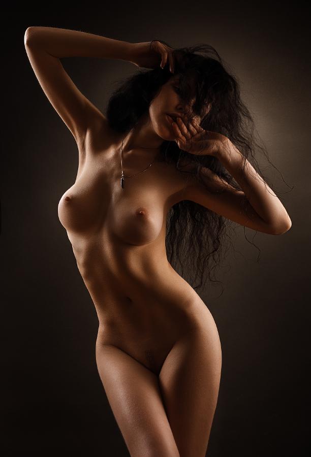 Beautiful nude curvy erotic woman