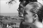 Delon and Schneider movie shoot La Piscine 1968 © Jean-Pierre Bonnotte