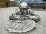 Perm, Ρωσία. Μνημείο υδραυλικός