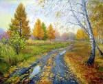 Zaozersky Vitali. Autumn thaw.