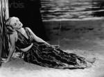 Actress Bette Davis in Beach Scene