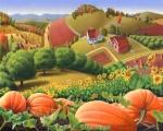 Appalachian Pumpkin Patch, oil on canvas,