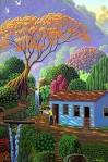 Painting the flamboyant tree