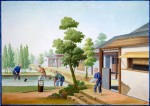 Porcelain Manufacture Series,, Refining the clay ca.1825 Guangzhou; China Gouache on paper