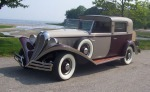 Pictured is a 1935 Ford Town Car with custom coachwork by Brewster.
