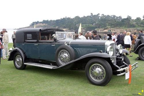 1929 Duesenberg Model J All-Weather Town Car with coachwork by Barker.