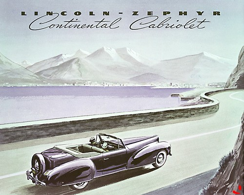 1940 Lincoln-Zephyr Continental Cabriolet illustration